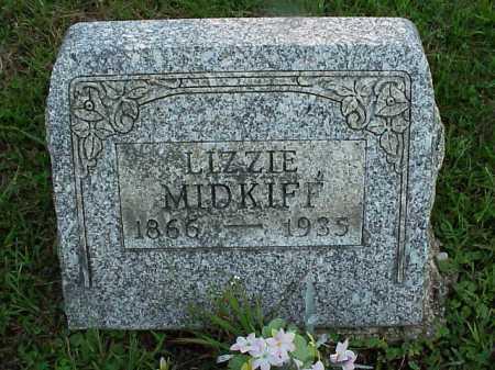 "MIDKIFF, SARAH ELIZABETH ""LIZZIE"" - Meigs County, Ohio | SARAH ELIZABETH ""LIZZIE"" MIDKIFF - Ohio Gravestone Photos"