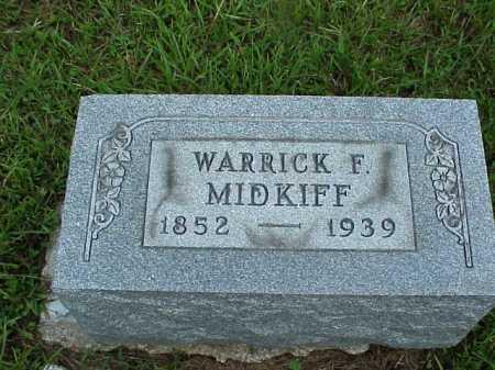 MIDKIFF, WARRICK F. - Meigs County, Ohio   WARRICK F. MIDKIFF - Ohio Gravestone Photos