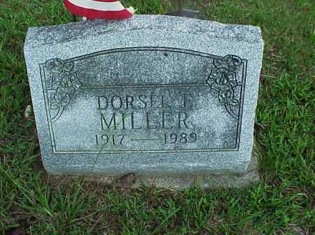 MILLER, DORSEL E. - Meigs County, Ohio   DORSEL E. MILLER - Ohio Gravestone Photos