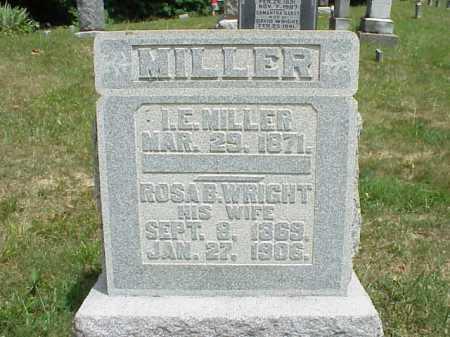 MILLER, I.E. - Meigs County, Ohio   I.E. MILLER - Ohio Gravestone Photos