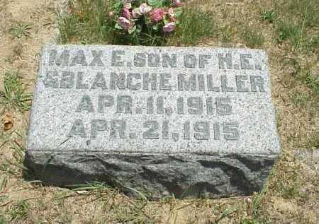 MILLER, MAX E. - Meigs County, Ohio | MAX E. MILLER - Ohio Gravestone Photos