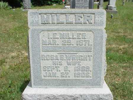 WRIGHT MILLER, ROSA B. - Meigs County, Ohio   ROSA B. WRIGHT MILLER - Ohio Gravestone Photos