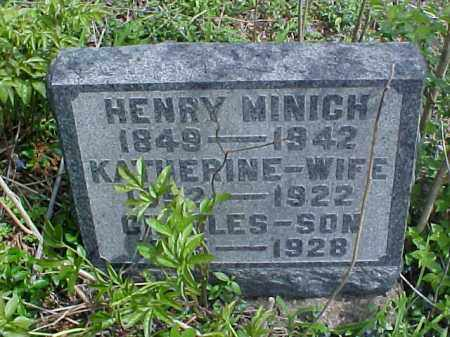 MINICH, KATHERINE - Meigs County, Ohio | KATHERINE MINICH - Ohio Gravestone Photos