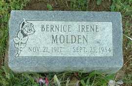 MOLDEN, BERNICE IRENE - Meigs County, Ohio | BERNICE IRENE MOLDEN - Ohio Gravestone Photos