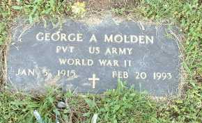 MOLDEN, GEORGE A. - Meigs County, Ohio | GEORGE A. MOLDEN - Ohio Gravestone Photos