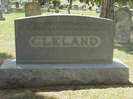 MONUMENT, CLELAND - Meigs County, Ohio | CLELAND MONUMENT - Ohio Gravestone Photos