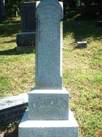 MONUMENT, DEWOLF - Meigs County, Ohio   DEWOLF MONUMENT - Ohio Gravestone Photos