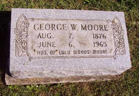 MOORE, GEORGE W. - Meigs County, Ohio | GEORGE W. MOORE - Ohio Gravestone Photos
