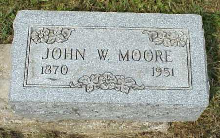 MOORE, JOHN W. - Meigs County, Ohio | JOHN W. MOORE - Ohio Gravestone Photos