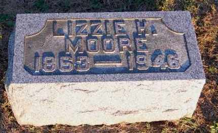 MOORE, LIZZIE H. - Meigs County, Ohio | LIZZIE H. MOORE - Ohio Gravestone Photos