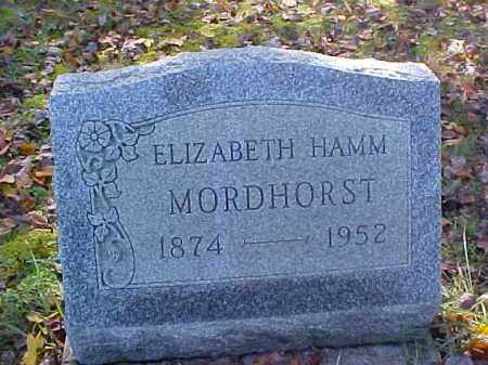 HAMM MORDHORST, ELIZABETH - Meigs County, Ohio   ELIZABETH HAMM MORDHORST - Ohio Gravestone Photos