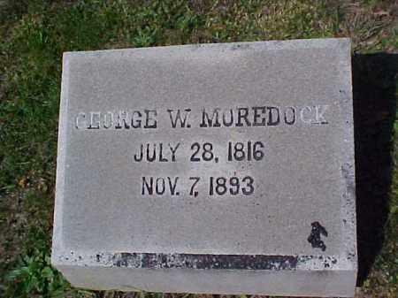MOREDOCK, GEORGE W. - Meigs County, Ohio | GEORGE W. MOREDOCK - Ohio Gravestone Photos