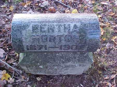 MORTON, BERTHA - Meigs County, Ohio   BERTHA MORTON - Ohio Gravestone Photos