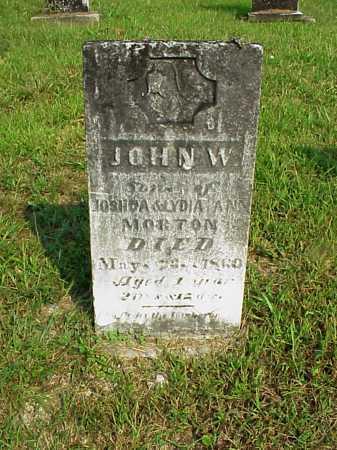 MORTON, JOHN W. - Meigs County, Ohio | JOHN W. MORTON - Ohio Gravestone Photos