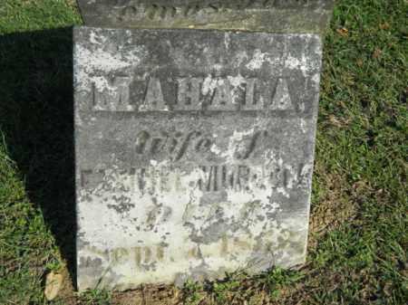 AUMILLER MURDOCK, MAHALA - Meigs County, Ohio | MAHALA AUMILLER MURDOCK - Ohio Gravestone Photos
