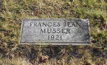 MUSSER, FRANCES JEAN - Meigs County, Ohio   FRANCES JEAN MUSSER - Ohio Gravestone Photos