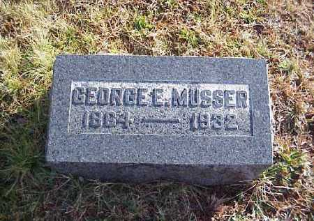 MUSSER, GEORGE E. - Meigs County, Ohio   GEORGE E. MUSSER - Ohio Gravestone Photos