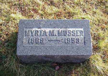 MUSSER, MYRTA M. - Meigs County, Ohio | MYRTA M. MUSSER - Ohio Gravestone Photos