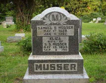 MUSSER, ELIZA - Meigs County, Ohio | ELIZA MUSSER - Ohio Gravestone Photos