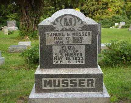 MUSSER, ELIZA - Meigs County, Ohio | ELIZA MUSSER - Ohio Gravestone Photos