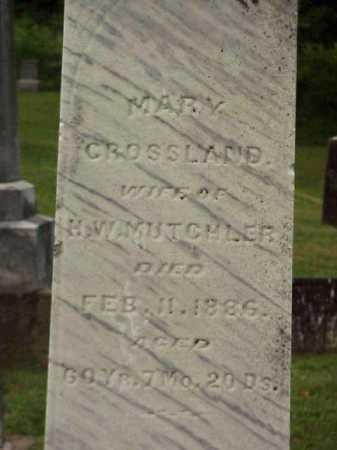 CROSSLAND MUTCHLER, MARY - Meigs County, Ohio | MARY CROSSLAND MUTCHLER - Ohio Gravestone Photos