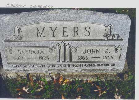MEAGER MYERS, BARBARA - Meigs County, Ohio | BARBARA MEAGER MYERS - Ohio Gravestone Photos