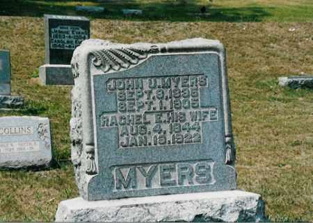 MYERS, JOHN U. - Meigs County, Ohio | JOHN U. MYERS - Ohio Gravestone Photos