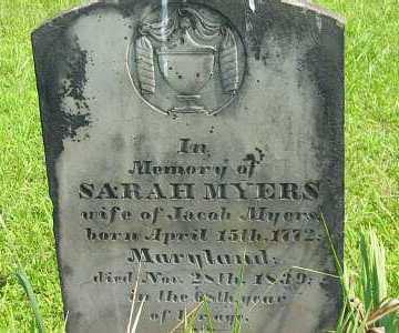 MYERS, SARAH - Meigs County, Ohio | SARAH MYERS - Ohio Gravestone Photos