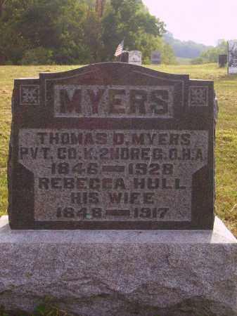 MYERS, THOMAS D. - Meigs County, Ohio | THOMAS D. MYERS - Ohio Gravestone Photos
