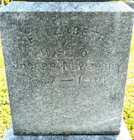 NEWBERRY, ELIZABETH - Meigs County, Ohio | ELIZABETH NEWBERRY - Ohio Gravestone Photos