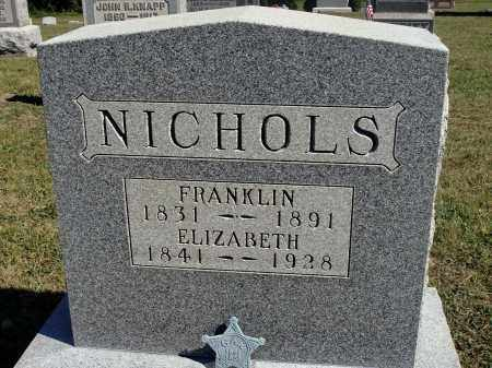 NICHOLS, FRANKLIN - Meigs County, Ohio | FRANKLIN NICHOLS - Ohio Gravestone Photos