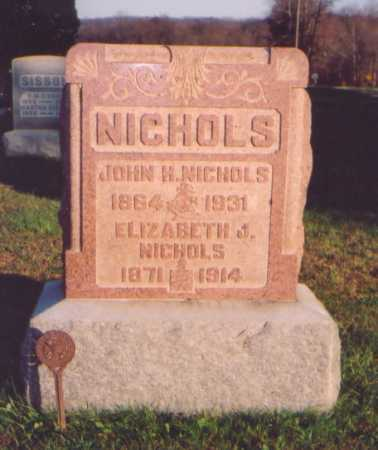 NICHOLS, ELIZABETH J. - Meigs County, Ohio | ELIZABETH J. NICHOLS - Ohio Gravestone Photos