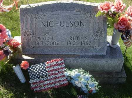 JOHNSTON NICHOLSON, RUTH S. - Meigs County, Ohio | RUTH S. JOHNSTON NICHOLSON - Ohio Gravestone Photos