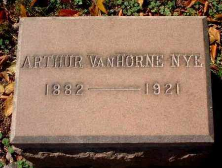NYE, ARTHUR VANHORNE - Meigs County, Ohio | ARTHUR VANHORNE NYE - Ohio Gravestone Photos
