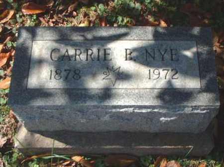 NYE, CARRIE B. - Meigs County, Ohio | CARRIE B. NYE - Ohio Gravestone Photos