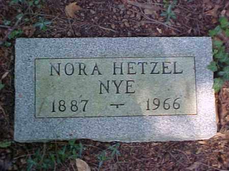 NYE, NORA - Meigs County, Ohio | NORA NYE - Ohio Gravestone Photos