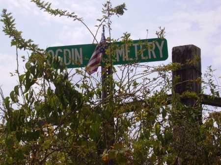 OGDIN, CEMETERY SIGN - Meigs County, Ohio   CEMETERY SIGN OGDIN - Ohio Gravestone Photos