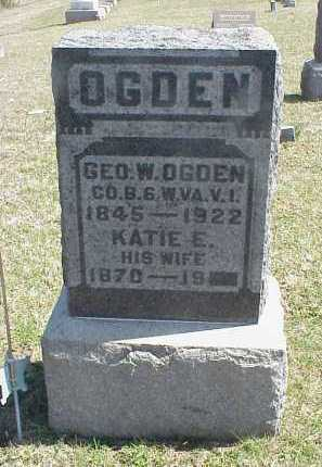 OGDEN, GEORGE W. - Meigs County, Ohio | GEORGE W. OGDEN - Ohio Gravestone Photos