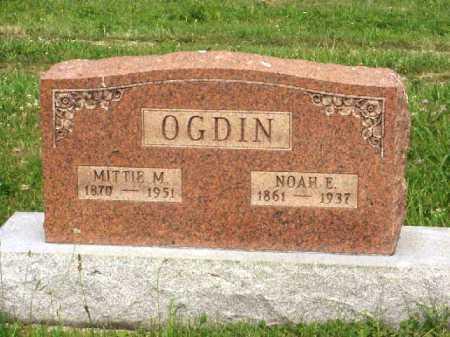 OGDIN, NOAH E. - Meigs County, Ohio | NOAH E. OGDIN - Ohio Gravestone Photos