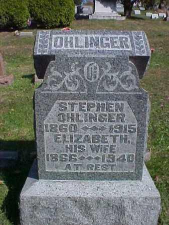 OHLINGER, ELIZABETH - Meigs County, Ohio   ELIZABETH OHLINGER - Ohio Gravestone Photos