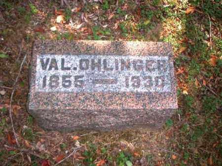OHLINGER, VAL. - Meigs County, Ohio   VAL. OHLINGER - Ohio Gravestone Photos