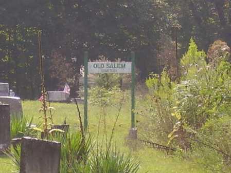 OLD SALEM, SIGN - Meigs County, Ohio | SIGN OLD SALEM - Ohio Gravestone Photos
