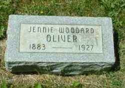 WOODARD OLIVER, JENNIE - Meigs County, Ohio   JENNIE WOODARD OLIVER - Ohio Gravestone Photos