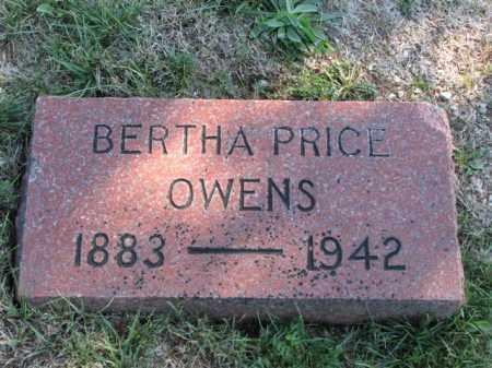PRICE OWENS, BERTHA - Meigs County, Ohio | BERTHA PRICE OWENS - Ohio Gravestone Photos