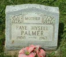 HYSELL PALMER, FAYE - Meigs County, Ohio | FAYE HYSELL PALMER - Ohio Gravestone Photos