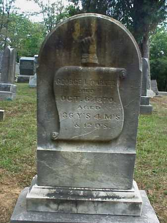 PARKER, GEORGE L. - Meigs County, Ohio | GEORGE L. PARKER - Ohio Gravestone Photos