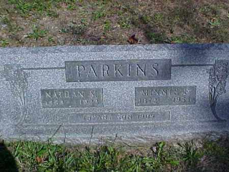 PARKINS, MINNIE F. - Meigs County, Ohio | MINNIE F. PARKINS - Ohio Gravestone Photos