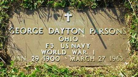PARSONS, GEORGE DAYTON - Meigs County, Ohio | GEORGE DAYTON PARSONS - Ohio Gravestone Photos