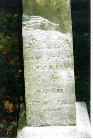 PARTLOW, MARY ANN - Meigs County, Ohio   MARY ANN PARTLOW - Ohio Gravestone Photos