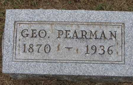 PEARMAN, GEORGE - Meigs County, Ohio | GEORGE PEARMAN - Ohio Gravestone Photos